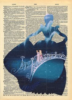 Cinderella Dictionary Art Print by AmourPrints on Etsy
