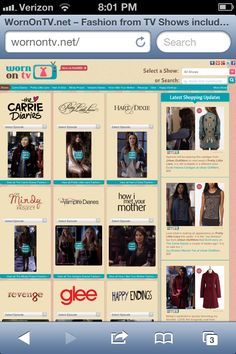 Wornontv.net this web site tells you where to get all the outfits on TV. Love it!