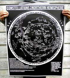 Hanging constellation map poster. The perfect way to keep track of imaginary symbols people made up when they looked at the sky.