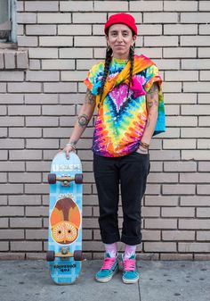 """Little, 36 """"My style is inspired by my Native Colombian roots, Queer Roots and freedom to not be like anyone else.I like to wear colorful, comfy, queer inspired, Cali inspired, and original clothes that fit my mood. The more rainbows the better. I do not like wearing clone outfits.""""  Dec 14, 2014 ∙ The Mission"""