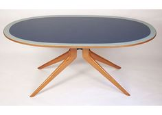 italian-dining-table-by-ico-parisi-1950s-Ico Parisi  Italian dining table designed by Ico Parisi in the 1950s in Italy. The table is made from wood and glass