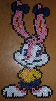 Babs Bunny from Looney Toons - Perler or Hama by Chrisbeeblack.deviantart.com
