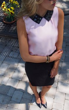 Collar Me Surprised  #Shirts & Blouses #Skirts #Heels & Wedges