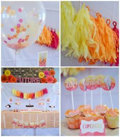 Bright Future Themed Graduation Party For A Girl (via Bloglovin.com )