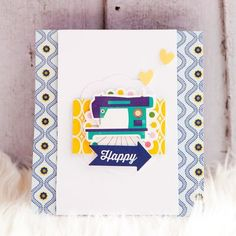 Happy Card by Evelyn Yusuf Pratiwi featuring Jillibean Soup Sew Happy Sunshine Soup