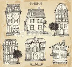 Vintage house Royalty Free Stock Vector Art Illustration