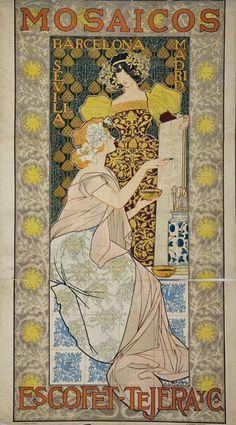 Mosaicos Escofet-Tejera  Alexandre de Riquer. Wikimedia.