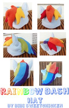 9e82956bb32 Rainbow Dash hat by ~ninjabibi on deviantART - squee! I know how to finish  Billa s Hween costume now!