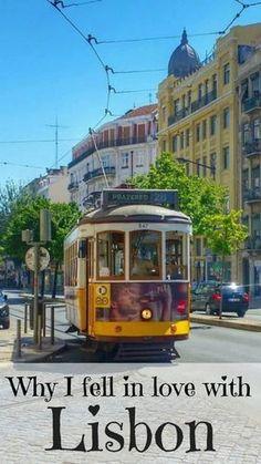 Lisbon's legendary yellow tram - Tram 28. Falling in love with Lisbon. #Lisbon #Lisboa #Lisbontram28 #Portugal