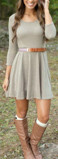 Comfy Knit Belted Dress ❤︎