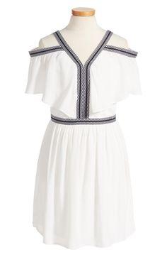 Bardot Junior Gigi Cold Shoulder Dress (Big Girls) available at #Nordstrom