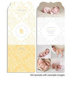 Rococo 5x5 Top Folded Luxe Card - baby announcement