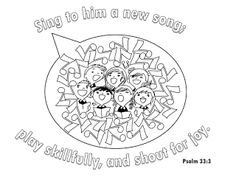 Coloring activity and prayer starter for Acts 10:34-35, by