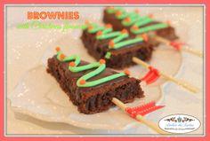 Brownies vestidos de Navidad