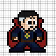 Doctor Strange Avengers Infinity War Perler Bead Pattern