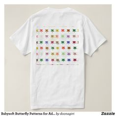 Babysoft Butterfly Patterns for Adults T-Shirt