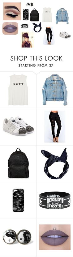 """dreamer"" by rosemarieramz ❤ liked on Polyvore featuring adidas Originals, Boohoo, Hogan, Mr. Gugu & Miss Go and Jeffree Star"