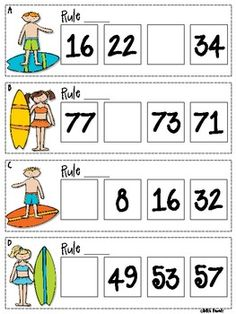 16 skip counting sequences - missing numbers. This resource is labeled for grades 3-5, but if you're using Everyday Math, this shows up in late first grade. Would be a nice challenge activity for advanced students!
