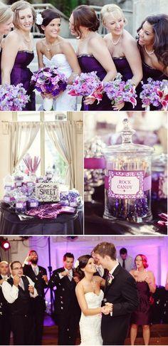 Purple wedding ideas... love the candy bar. The