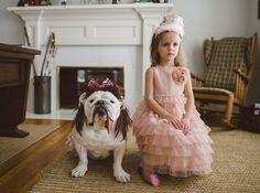 Η ιστορία αγάπης μιας πιτσιρίκας και ενός μπουλντόγκ που ξελιγώνει - Ο σκύλος με τα στέμματα, τα φουρό και τα κολιέ [ΕΙΚΟΝΕΣ]
