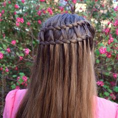 Double waterfall twists and cross ladder braid - double, waterfall twisted, cross, ladder braided hairstyle