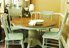 Between Blue and Yellow- Annie Sloan Provence round table and chairs