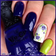 """""""Не верьте глазам своим, лак на самом деле фиолетовый, но айфон его хочет видеть таким, я ничего не смогла с этим поделать Nfu-Oh JS29, 3 coats & JS18 & #waterdecals """"Jess Nail"""" BLE1262  От глянца просто сносит крышу, лаки без топа, а снять их с красивыми бликами- еще та задача #ЗдесьТолькоЖеле для #UfaPolishWeek #маникюрныйинстаграм #nfuoh"""" Photo taken by @elle_nail on Instagram, pinned via the InstaPin iOS App! http://www.instapinapp.com (07/13/2015)"""