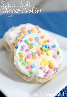 Super Soft Sugar Cookies from SixSistersStuff.com