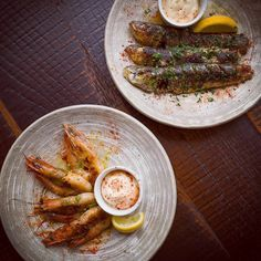 What takes your fancy; sardines or prawns? Always the freshest & best for #FishFriday & every day at our #Manchester #restaurant #HungryForTapas #fish #shellfish #chef #food