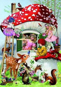 ~Roger la Borde-Fairy land Greeting Card by Barbara Behr~
