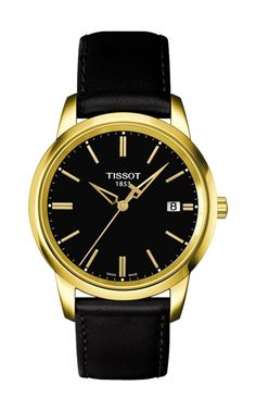 Welcome to My Tissot. We have a range of designer Tissot watches for both men and women. View the details of our all exclusive Tissot gold watch collection today. Mens Designer Watches, Luxury Watches For Men, Dream Watches, Cool Watches, Men's Watches, Elizabeth Diamond Company, Tissot Mens Watch, Black Leather Watch, Casual Watches
