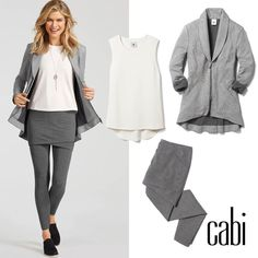 Products shown: Drop-off Jacket, Easy Tank, M'Leggings, Te Amo NecklaceShop casual looks: jeanettemurphey.cabionline.com, open 24/7