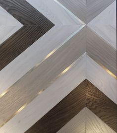Parquet with brass inlay