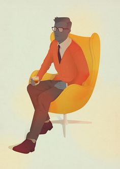 Methinks Jack Hughes is inspired by Mad Men. Who wouldn't be?