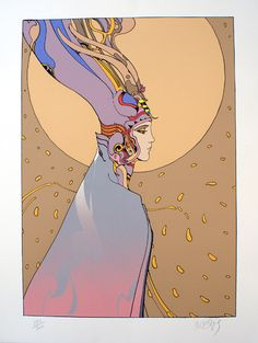 Starwatcher number 6 (Limited Edition Print) (Signed) art by Moebius (Jean Giraud)