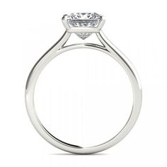 Petite Floating Basket Diamond Engagement Ring - The result is a refined and feminine design that allows greater light flow into the diamond, enhancing its brilliance