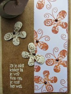 Craftpapercard with EP / Kraftpapierkaart met Embossingpoeder.