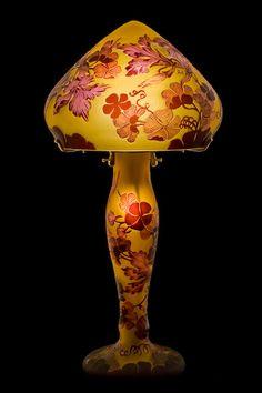 Table Lamps in art nouveau style, Emile Galle reproduction