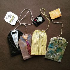 363 days of tea. Day 169. Happy Father's Day! #recycled #teabag #art www.rubysilvious.com