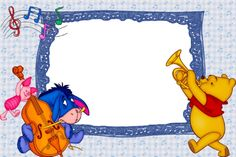 winnie the poo Pooh Bebe, Cubby Tags, Winnie The Pooh Pictures, Photo Frame Design, School Frame, Eeyore, Classroom Themes, Paper Background, Craft Fairs
