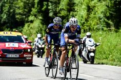 Stage 16. Moirans-en-Montagne to Berne. Tony Martin and Julian Alaphilippe.
