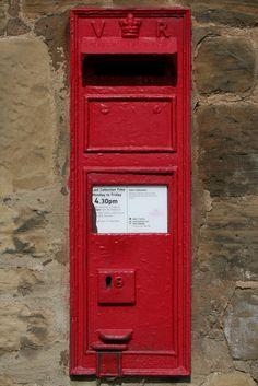 Victorian Postbox, Home Farm, Stank, Harewood, Leeds