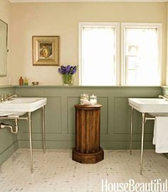 6 Excellent Cool Tips: Wainscoting Nursery Grey shiplap wainscoting shelves.Wainscoting Island Bar wainscoting foyer home.Painted Wainscoting Old Houses. Painted Wainscoting, Wainscoting Bedroom, Bathroom Paneling, Wainscoting Styles, Paneling Painted, Wainscoting Height, Black Wainscoting, Wainscoting Kitchen, Wainscoting Panels