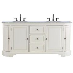 Home Decorators Collection Davenport 73 in. Vanity in Distressed White with Granite Vanity Top in Grey and Undermount Sink 1975400410 at The Home Depot - Mobile