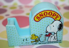 60s SNOOPY Tape Dispenser by Pooyabee on Etsy, $6.40