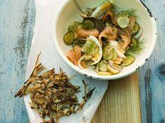 Kartoffel-Lachs-Salat mit Schwarzwurzelpuffern ist ein Rezept mit frischen Zutaten aus der Kategorie Gemüsesalat. Probieren Sie dieses und weitere Rezepte von EAT SMARTER!