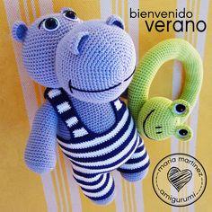 Maria Martinez Amigurumi: Henry the hippo / Henry, el hipopótamo bañista y su…