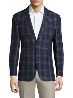Linen Plaid Notch Sportcoat from Tommy Hilfiger: $199 & Under on Gilt