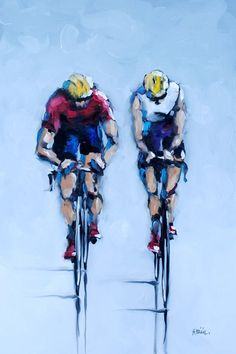 Peloton - original painting by Harold Braul at Crescent Hill Gallery Bycicle Illustration, Bycicle Art Bicycle Painting, Bicycle Art, Bike Poster, Motorcycle Shop, Cycling Art, Sports Art, Bike Design, Cool Posters, Original Paintings