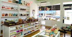 Old fashioned candy stores. And candy in general.